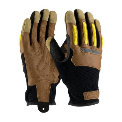 Maximum Safety Leather & Spandex Gloves