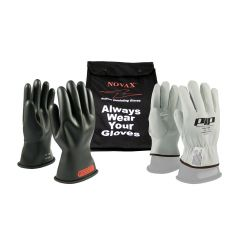 Novax Electrical Saftey Glove Kit - Black - Class 0