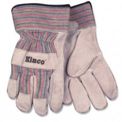 Children's Cowhide Leather Palm Work Gloves