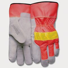 Kinco Hi-Vis Cowhide Leather Palm Gloves (Dozen)