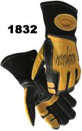 Caiman Revolution Black Gold Cowhide Welding Glove