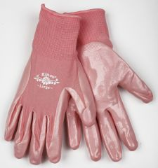 Women's Coated Pink Gloves