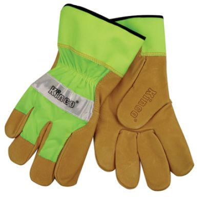 Kinco Hi-Vis Lime Unlined Pigskin Gloves