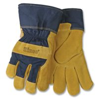 Kinco Lined Suede Pigskin Leather Palm Gloves - Safety Cuff