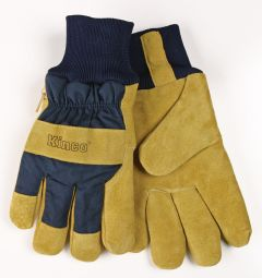Kinco Lined Suede Pigskin Leather Palm Gloves - Knit Wrist