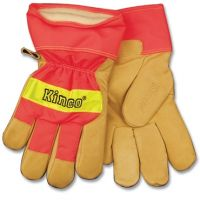 Kinco Hi-Vis Orange Lined Pigskin Gloves