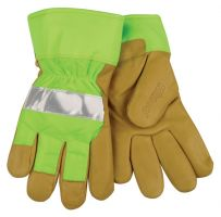 Kinco Hi-Vis Lime Lined Pigskin Gloves