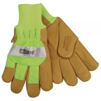Kinco Hi-Vis Lime Lined Waterproof Pigskin Gloves