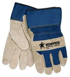 MCR Artic Jack Lined Split Pigskin Leather Palm Gloves - Safety Cuff