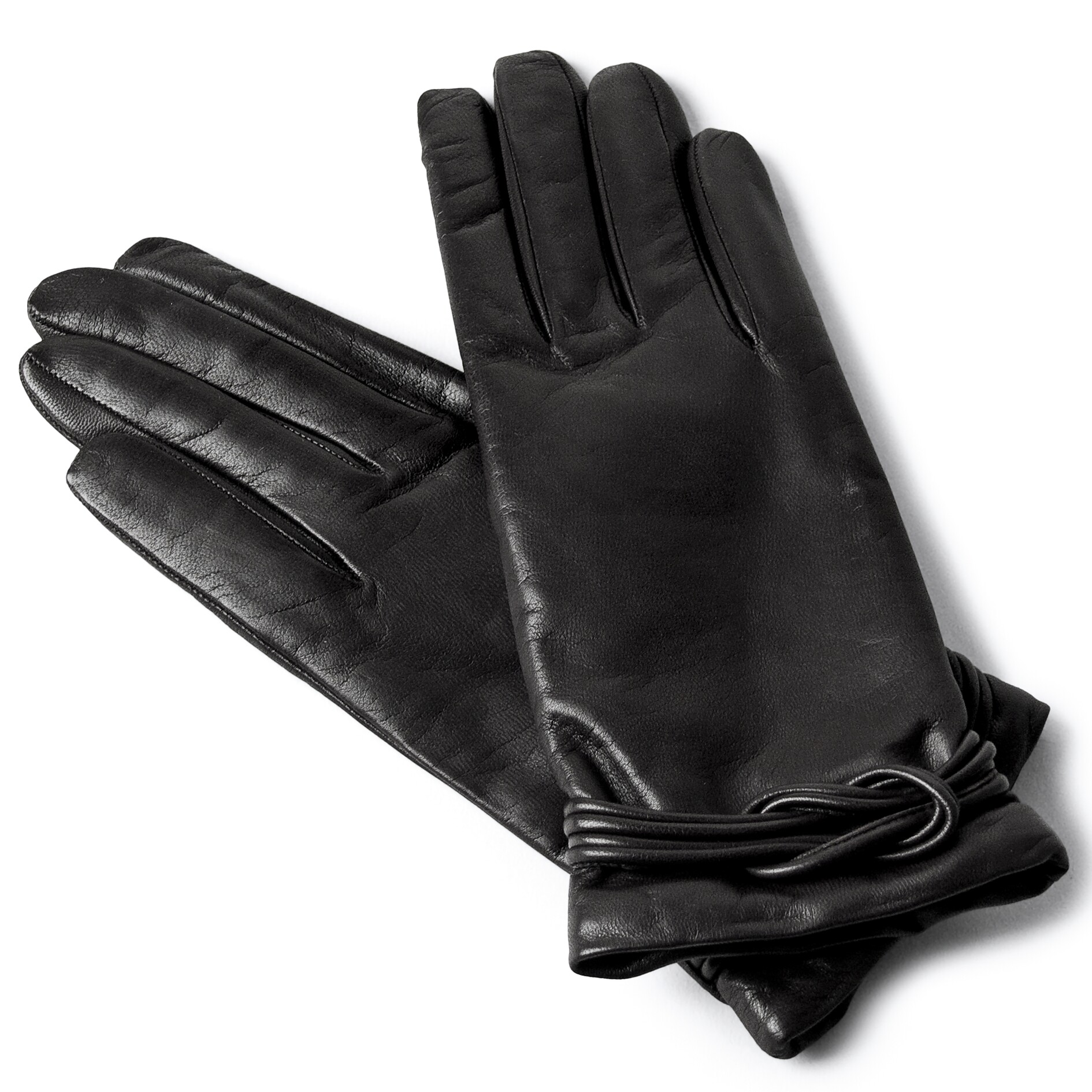 Ladies leather gloves designer -