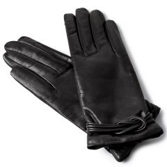 Woman's Cashmere Lined Designer Leather Gloves
