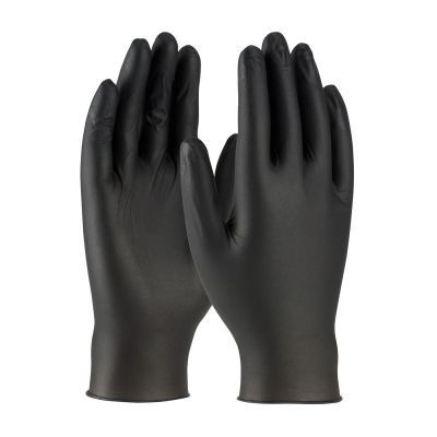 Posi-Shield Black Nitrile Gloves - PF - 5 Mil