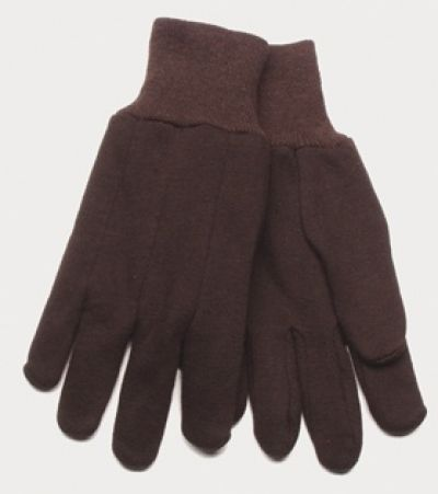 Children's Brown Jersey Gloves (Dozen)