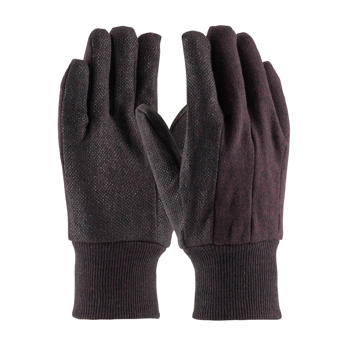 9 oz brown jersey dotted work gloves chore gloves