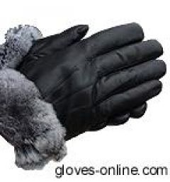 Ladies Chinchilla Leather Gloves