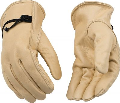 Kinco Premium Grain Cowhide Drivers Gloves with Strap