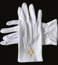 GO Masonic Gloves - 100% Cotton