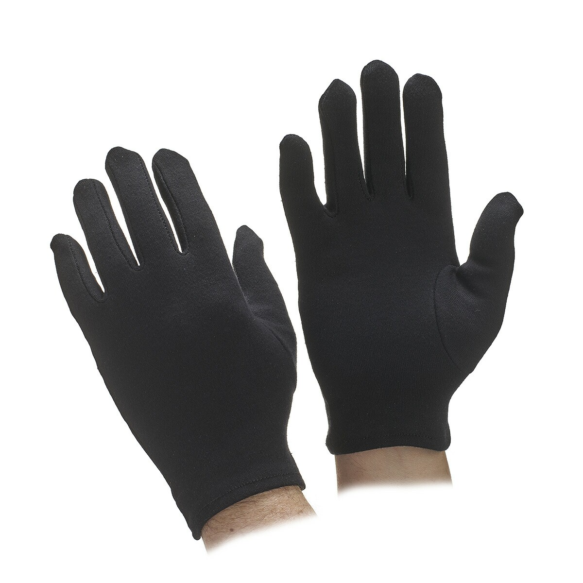 Black gloves online - Go Standard Black Cotton Parade Gloves