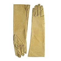 Women's Metallic Long Gold Gloves