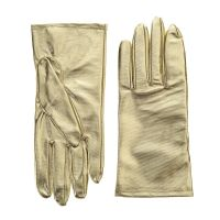 Women's Metallic Gold Gloves
