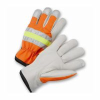 HIGH-VIS Grain Cowhide Leather Driver Gloves