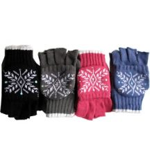 Ladies Knit Convertible Mittens