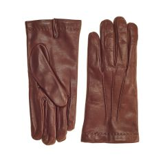 Men's Cognac Cashmere Lined Nappa Leather Gloves