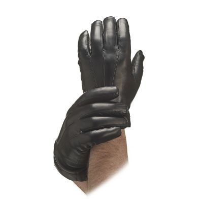 Men's Black Cashmere Lined Leather Gloves