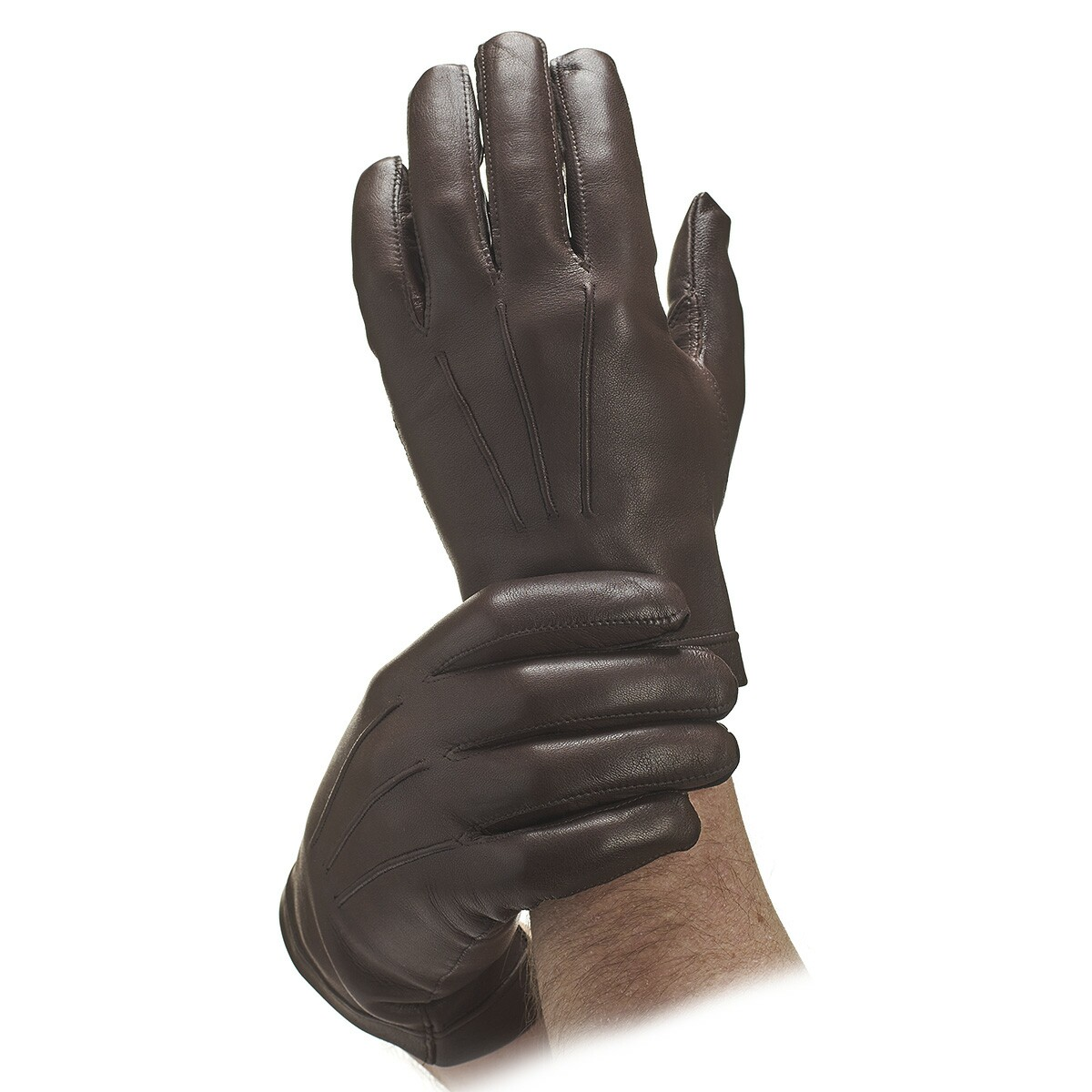 fac9198811212 Men's Brown Cashmere Lined Leather Gloves | Leather Gloves | Gloves ...