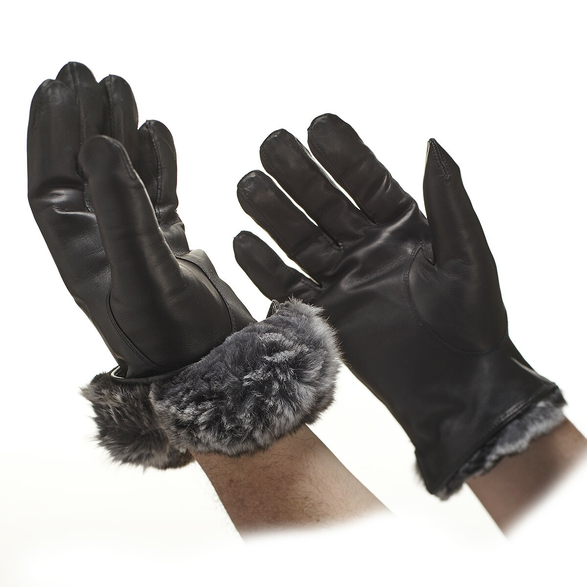 Mens leather gloves rabbit fur lined - Men S Chinchilla Leather Gloves Men S Fur Lined Gloves Gloves Online