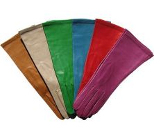 Portolano Woman's Italian Colored Leather Gloves