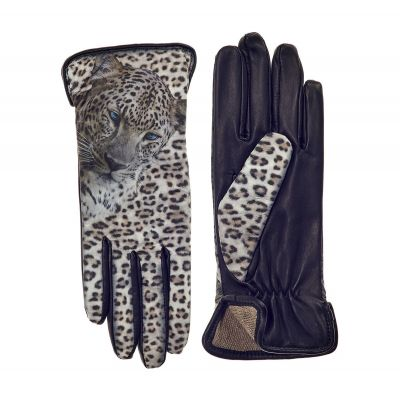 ICON Leather - Women's Snow Leopard Lined Gloves