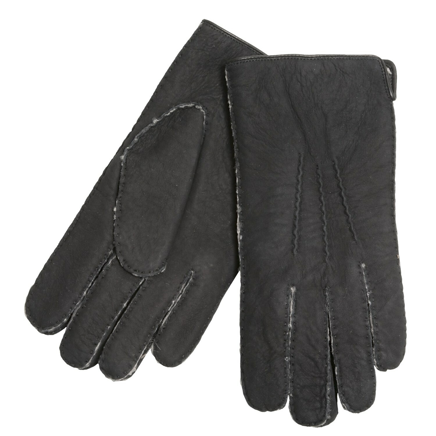 Black leather gloves brisbane - Mens Sheepskin Gloves Black