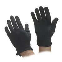 Black Cotton Beaded Grip Gloves