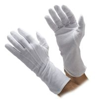 Extra Long Cotton Beaded Grip Gloves