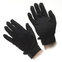 Deluxe Black Beaded Grip Gloves