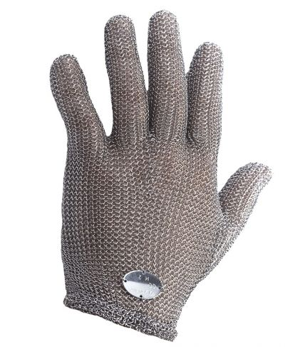 Whizard Stainless Steel Metal Mesh Cut Resistant Gloves Standard Length