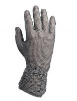 "Stainless Steel Metal Mesh Cut Resistant Gloves - 2"" Cuff"