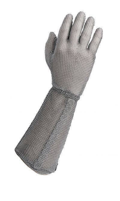 "Stainless Steel Metal Mesh Cut Resistant Gloves - 7.5"" cuff"