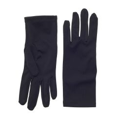 Nylon Dress Gloves for Children and Teens - Black