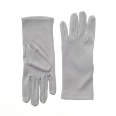 Nylon Dress Gloves for Children and Teens - Gray