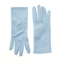 Nylon Dress Gloves for Children and Teens - Blue