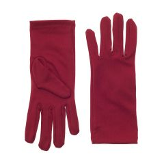Nylon Dress Gloves for Children and Teens - Red
