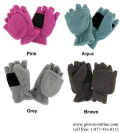 Ladies Micro-Fleece Convertible Mittens