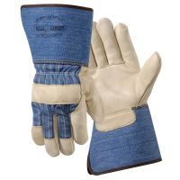 Wells Lamont Premium Grain Full Feature Leather Palm Gauntlet Cuff GlovesGloves